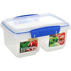 Contenedor doble para alimentos 1 litro plástico