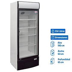 Visi-Cooler 1 puerta 350 litros Negro/blanco