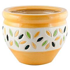 Macetero de cerámica 23x16 cm Amarillo