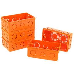 Set de cajas de distribución embutidas 16x20x25 mm 5 unidades