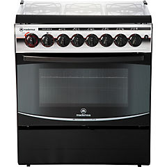 Cocina a gas 6 quemadores 84 litros negro