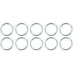 Set de argollas para cortina 10 unidades cromado