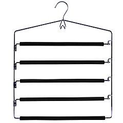 Colgador para ropa de 4 barras con espuma metal Negro