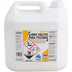 Cloro líquido para piscinas 20 litros bidón