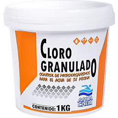 Cloro granulado para piscinas 1 kg frasco