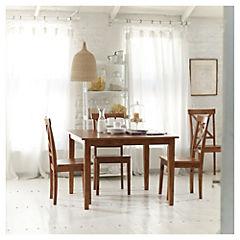 Comedor cuadrado con 4 sillas de madera