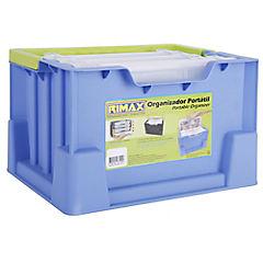 Caja organizadora portátil 4 litros 30x23x19 cm azul