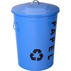 Basurero con tapa 49 litros azul