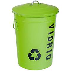Basurero con tapa 49 litros verde