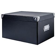 Caja escritorio 15,5x20,5x28 cm negro