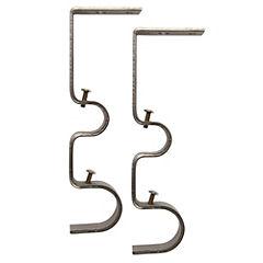 Set de soportes para barra de cortina 19 mm y 28 mm 2 unidades satinado