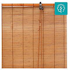 Cortina enrollable bambú 100x100 cm Café