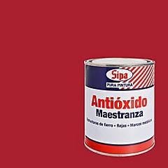 Pintura antióxido opaco 1/4 gl Rojo