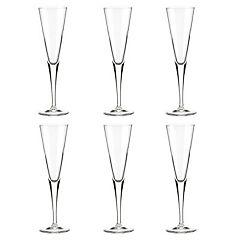 Set de copas flute vidrio 6 unidades