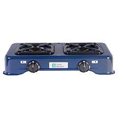 Cocinilla a gas 2 quemadores azul