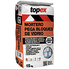 Bolsa 15 kilos Topex pega bloques de vidrio