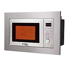 Horno microondas digital empotrable 25 litros inox