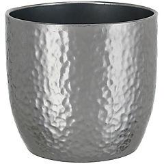 Macetero de cerámica 14 cm Plateado