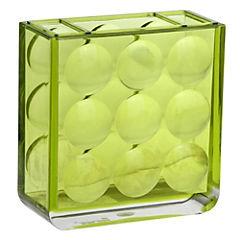 Portacepillo para baño verde