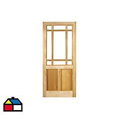 Puerta pino oregón 90x200 cm