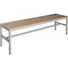 Banca metal-madera simple 40x50x150 cm
