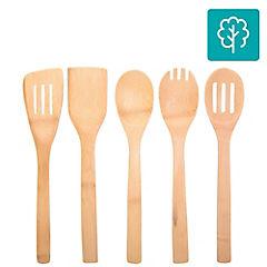 Juego de utensilios de cocina 5 piezas bambú