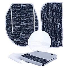 Juego de baño Letras 5 piezas gris negro
