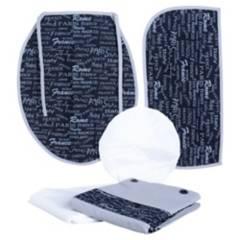 GENTILE - Juego de baño Letras 5 piezas gris negro