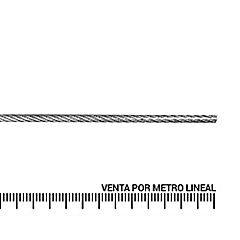 Cable de acero forro PVC 3/16