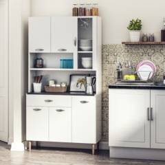 PARANA - Kit mueble cocina 91x173x36 cm Blanco