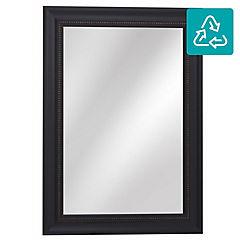 Espejo rectangular 108x78 cm negro