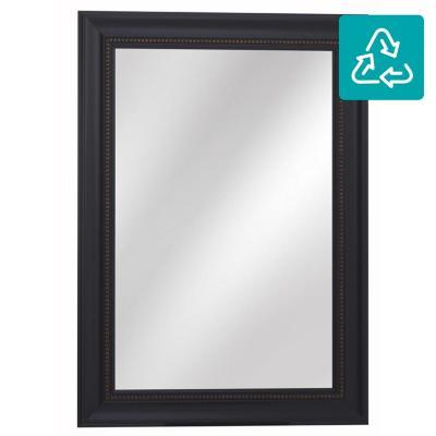 Espejo rectangular 108x78 cm negro - Fijaciones para espejos ...
