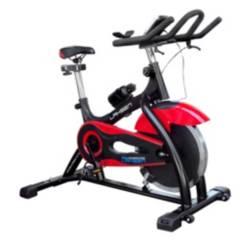 LAHSEN - Bicicleta estática mecánica rojo