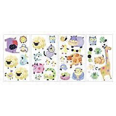 Sticker decorativo animales 33 unidades