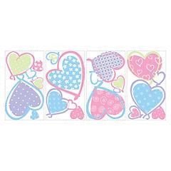 Sticker decorativo corazones 16 unidades
