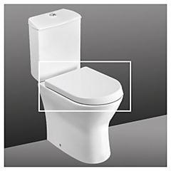 Asiento WC elongado acero blanco