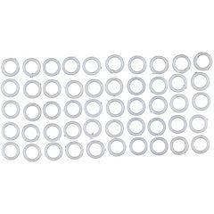 Set de argollas para cortina 50 unidades blanco