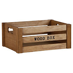 Caja decorativa 12,3x29,5 cm madera natural