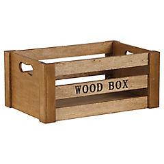 Caja decorativa 10,8x25,2 cm madera natural