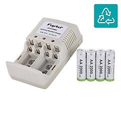 bd563fbd8e0 Pack de cargador 4 pilas AAA/AA + 4 pilas AA recargables - Fujitel ...