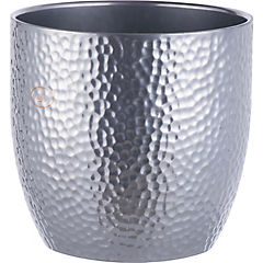 Macetero de cerámica 24 cm Plateado