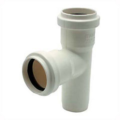 Tee PVC con goma 75 mm