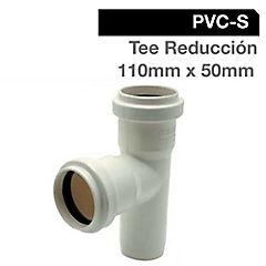 Tee PVC con goma 75x50 mm