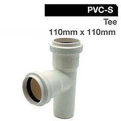 Tee PVC con goma 50 mm