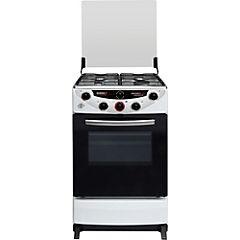 Cocina a gas 4 quemadores 68 litros blanco