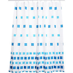 Cortina de baño Mosaico poliéster 180x178 cm