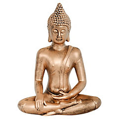 Buda decorativo 26x16x35,5 cm poliresina dorado