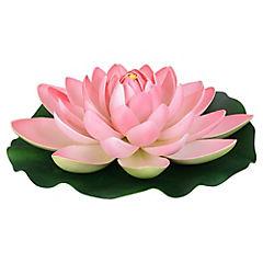 Flor de loto flotante artificial Rosado