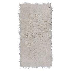 Alfombra Flokati 60x120 cm blanco