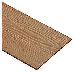 6 mm 0.19 x 3.66 m Siding fibro cemento diseño madera, color pino Oregón